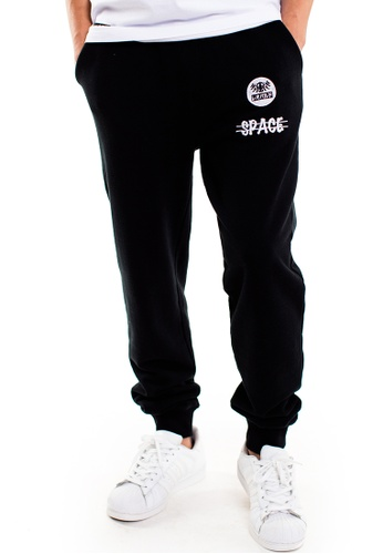 Reoparudo black RPD Cross Space Reflective Print Sweat Pants (Black) RE413AA0F4C0SG_1