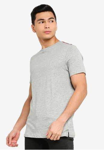 Brave Soul grey Crew Neck T-Shirt 2A078AA53095E5GS_1