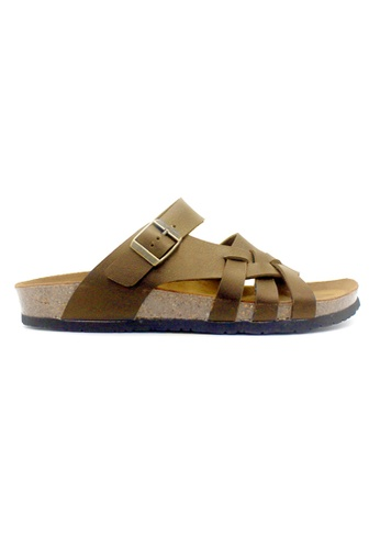 SoleSimple brown Istanbul - Camel Leather Sandals & Flip Flops 002BESHB3F8A94GS_1