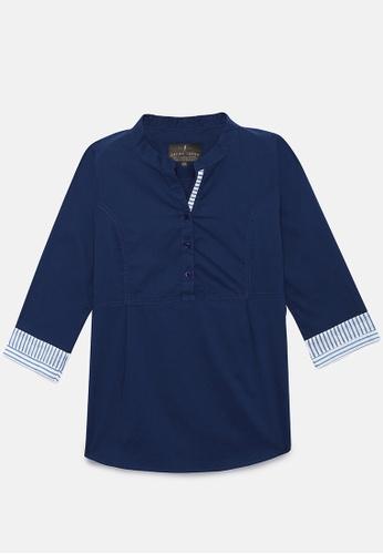 ZALZA navy 100% Organic Cotton Lio Girls Fashion Top - Navy 11958KAF58BAE6GS_1