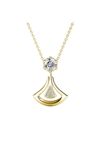 Her Jewellery Dual Soul Crystal Pendant (Yellow Gold) - Embellished with Crystals from Swarovski® 0EFABAC753F92FGS_1