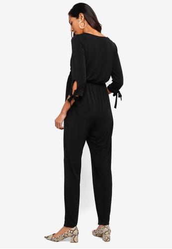 a757e3e2651a Buy Dorothy Perkins Maternity Black Tie Sleeve Jumpsuit Online ...