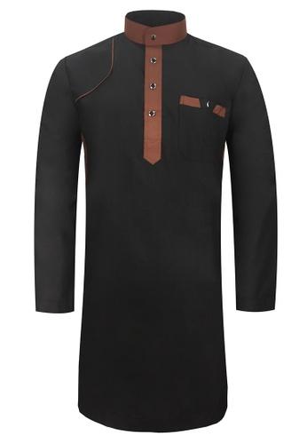 Pacolino black Baju Kurta Muslim For Kids - EK1702 (Black) 577E9KA06ED0D0GS_1