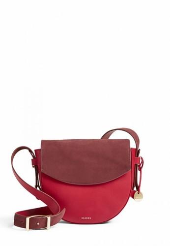 SKAGEN red Skagen Lobelle - Leather - Saddle Bag - Tas Skagen Wanita - SWH0257611 13A57AC5A1C1D3GS_1