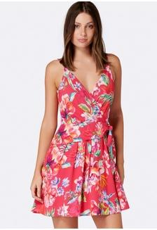 c337be17fa1 Caressa Tie Detail Flippy Dress C8F08AAA3B0AA1GS 1 Forever New ...