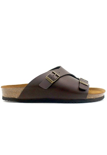 SoleSimple 褐色 Jersey - 棕褐色 百搭/搭帶 軟木涼鞋 A21B7SH0125C62GS_1