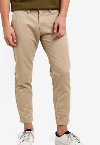 Sparrow Green beige Brad Tapered Chino Pants SP065AA99LKIMY_1