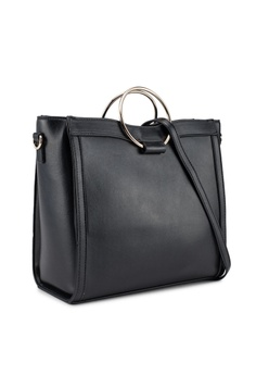 93bb7556a3b7e 60% OFF Miss Selfridge Metal Circle Handle Tote RM 199.00 NOW RM 79.90  Sizes One Size