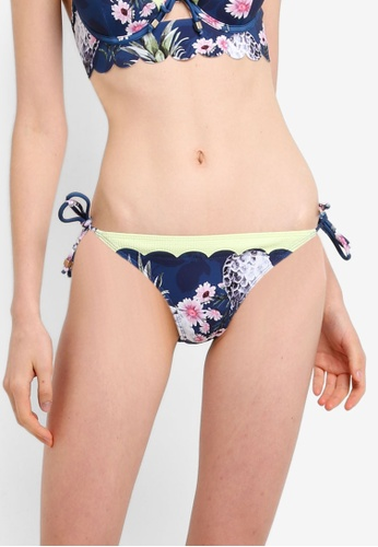 River Island blue and navy Scallop Plunge Bikini Bottom 88883US1664A79GS_1