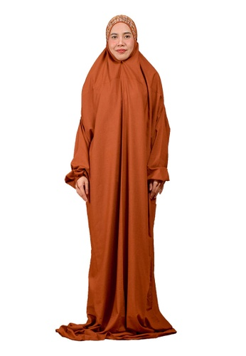 Nanees Telekung orange Telekung Safar D62DEAADE90D55GS_1