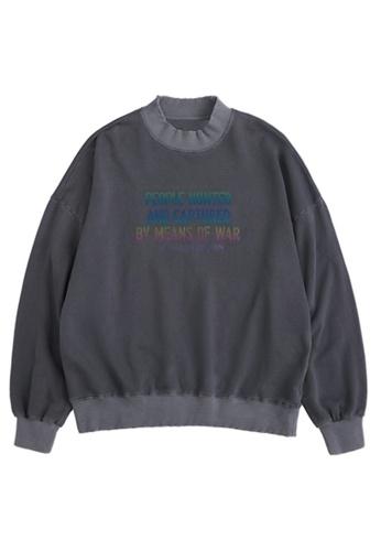 Twenty Eight Shoes Retro Reflective Printed Long T-shirt 1376W20 0D424AA07C9FF3GS_1