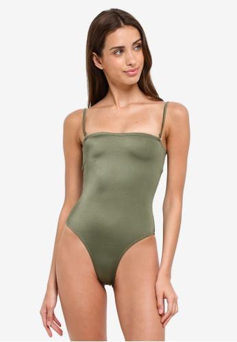Billabong green Sea Chaser Bandeau One Piece Swimwear CC376US0EBBB30GS_1