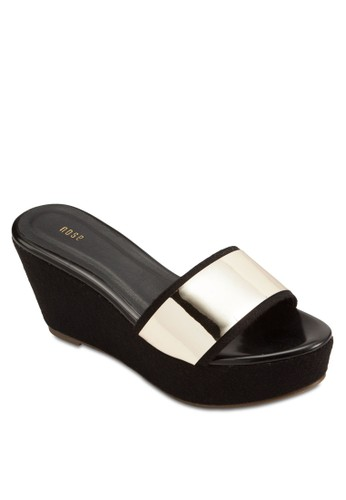 金屬esprit 童裝寬帶楔型鞋, 女鞋, 鞋