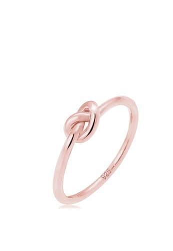 ELLI GERMANY gold Elli Germany Ring Trend Knot 925 Silver Rose Gold Plated 9C999AC1921E80GS_1