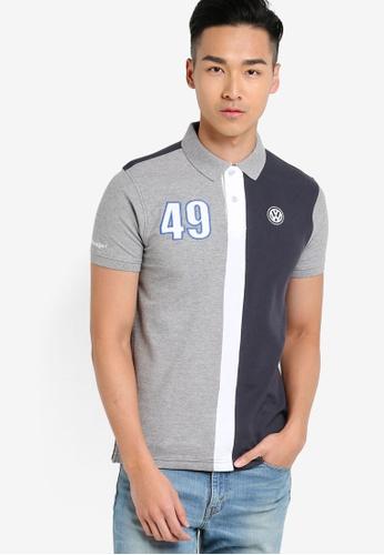 Volkswagen grey Cut & Sew Polo Shirt VO089AA28JLFMY_1