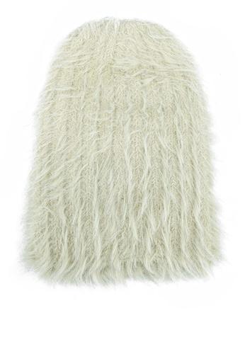 GLOBAL WORK white Fur Effect Beanie F1871KC77C6AE7GS_1