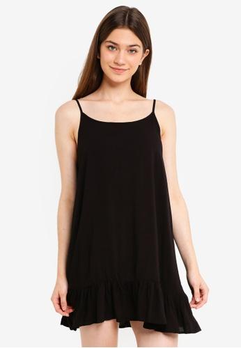 Supre black Relaxed Frill Hem Dress 20330AAA8074A0GS_1