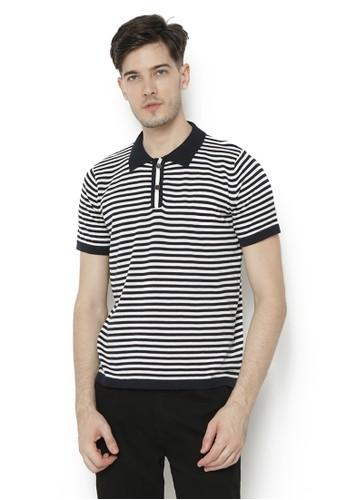 Knitwork black and white Knitwork Black - White Quagga Polo Shirt BE825AAC3F0597GS_1