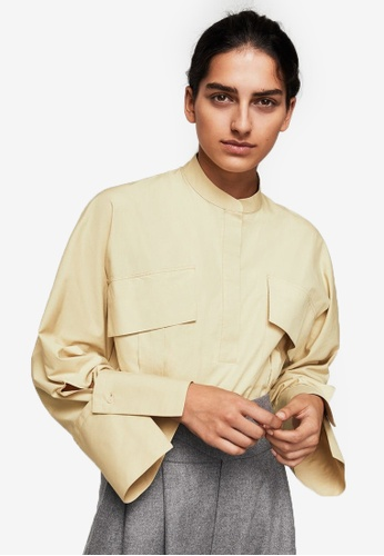 Mango beige Committed Collection Pocket Blouse MA193AA0RTEIMY_1