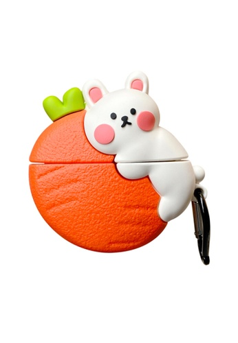 Kings Collection white Lovely Radish Rabbit AirPods Case (KCAC2077) E9FA4AC1D0DD54GS_1