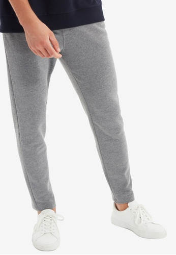 Trendyol grey Anthracite Jogger Pants A4C7CAA282C4E4GS_1