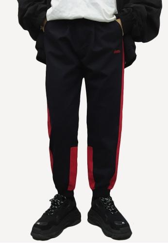 hk-ehunter 黑色 and 紅色 男士休閒褲子 04780AA40B1145GS_1