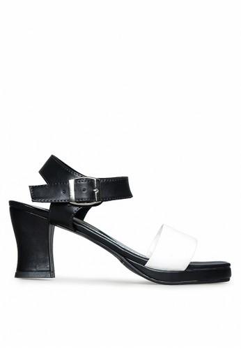 Urban Looks black and white Jane Black Platform Heels Sandal UR829SH33IHYID_1