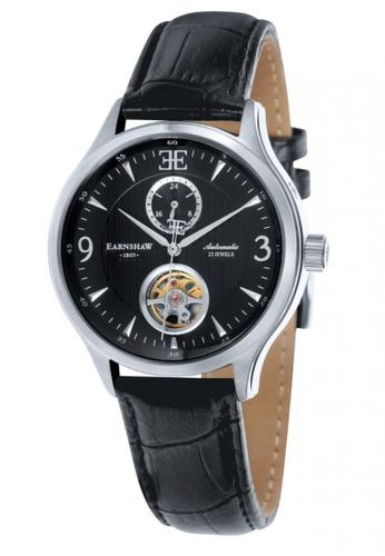 Thomas Earnshaw black Thomas Earnshaw FLINDERS 42MM ES-8023-01 Men's Black Genuine Leather Strap Watch 281E1ACEB031F8GS_1
