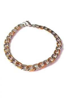 Stainless Steel 2 tone Chain Bracelet