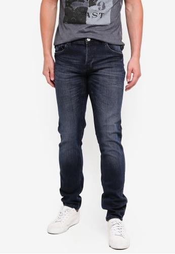 OVS 藍色 Skinny-Fit 牛仔褲 With 鈕釦 EDEFAAA99ECE7CGS_1