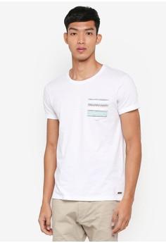 【ZALORA】 Printed Pocket Short Sleeve T-Shirt
