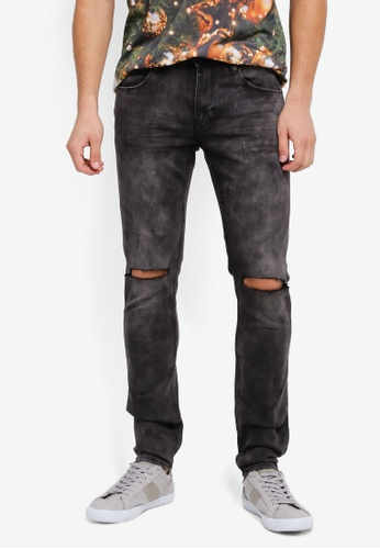 CR7 grey Reconstructed Skinny Jeans CR532AA0SYI6MY_1