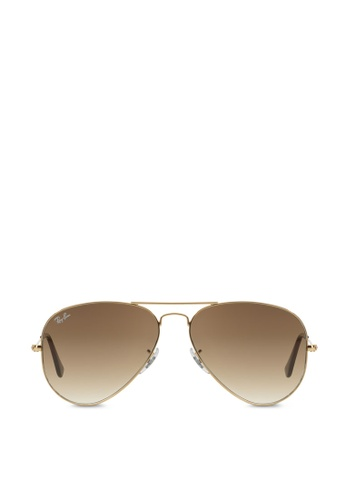 Ray-Ban 黃色 Aviator Large Metal RB3025 Sunglasses RA370GL52RZVSG_1