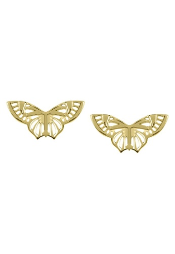 Sara Miller gold Sara Miller - Kew Butterfly Stud Earring - Gold (SAJ1004) 727E7ACD0A2DCCGS_1