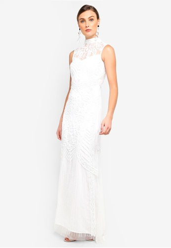 Frock and Frill white Bibi Sequin Maxi Dress EC517AA158A4D0GS_1