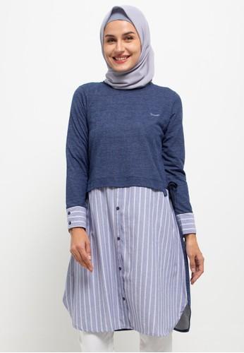 Cressida Ladies navy Aneeza Tunic dress D14F4AAC21CB61GS_1