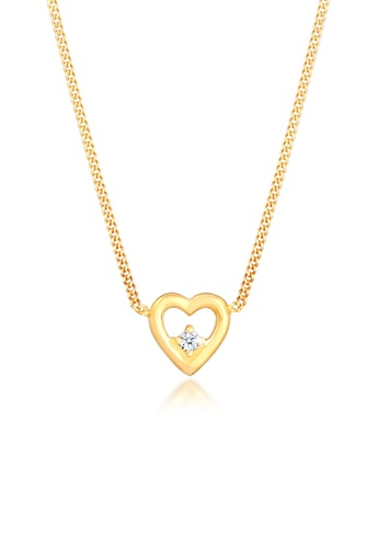 ELLI GERMANY white Diamond Heart Pendant Love Necklace BC466ACDC825AEGS_1