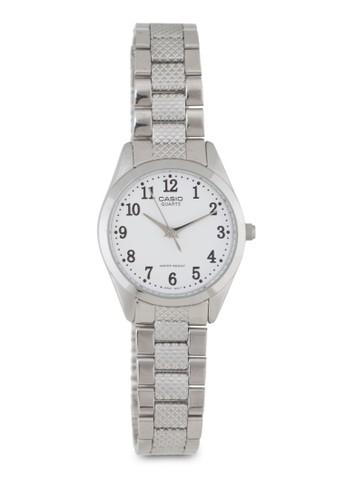 LTP-127esprit taiwan4D-7BDF 三指針不銹鋼數字錶, 錶類, 不銹鋼錶帶