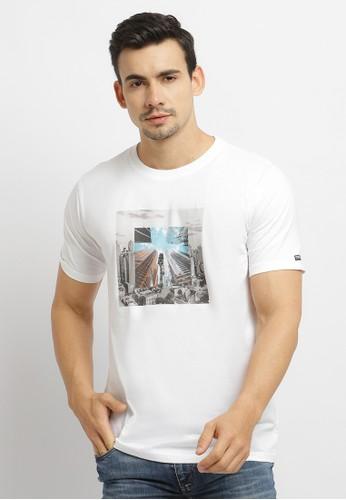 Osella white Osella Baju Pria Tshirt Graphic City White 44E64AA1309F92GS_1