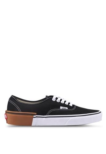 VANS black Authentic Gum Block Sneakers CD3B3SH77772BFGS_1
