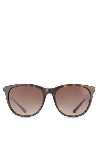 04cf2cff5df Emporio Armani brown Essential Leisure EA4086F Sunglasses EM212GL57QMWMY 1