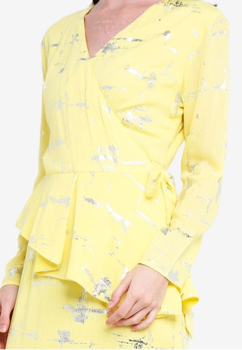Buy Draped Kurung Set from Lubna in Yellow only 235
