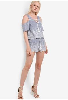 Womens Embroided Shorts Miss Selfridge 8GXsf72