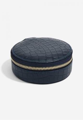 Stackers STACKERS JB74167 NAVY CROC ROUND SMALL TRAVEL BOX DBF35ACD77096DGS_1