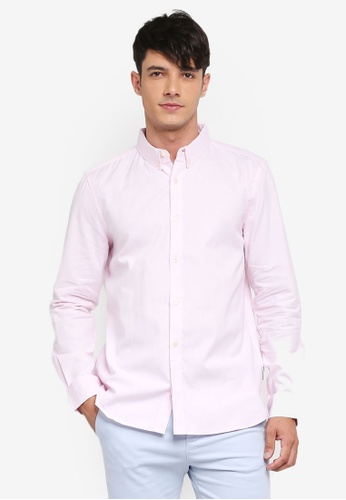 French Connection pink Classic Soft Oxford Shirt E81E5AAA7E8A99GS_1