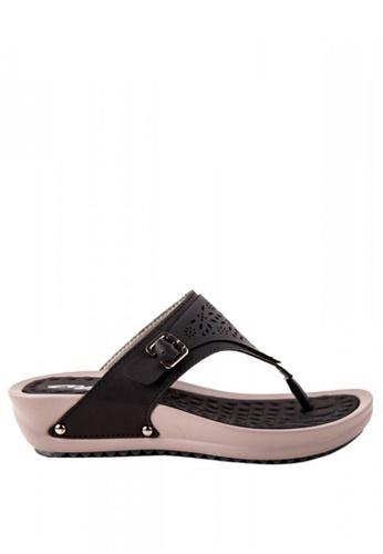 Otto black Laser cut Sandals OT407SH0K95QPH_1