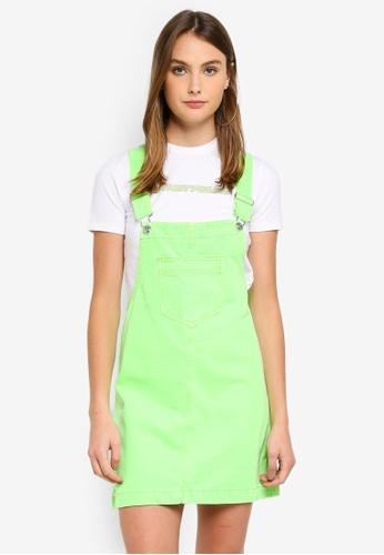 Factorie green Classic Denim Overall Dress 8FCBAAA19390C0GS_1