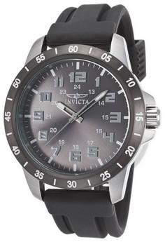Pro Diver Men 45mm Case Polyurethane Strap Grey Dial Quartz Watch 21842