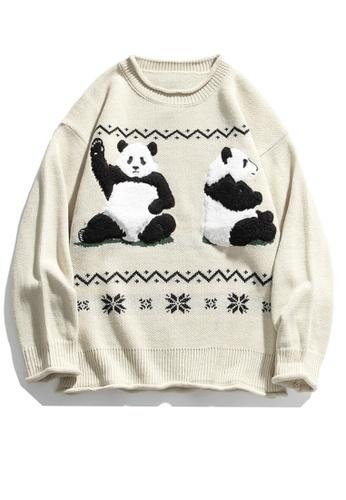 Twenty Eight Shoes Trend Panda Cartoon Knit Sweater HH0536 AEB9CAA62EF70AGS_1