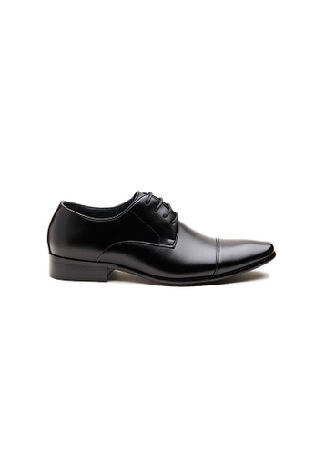 Kings Collection black Heston Leather Shoes 62EACSH007CFD4GS_1